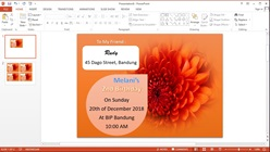 How to Create Birthday Invitation Card in Microsoft PowerPoint