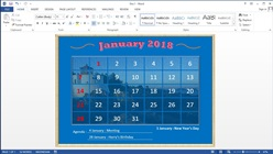 How to Make Your Own Calendar in Microsoft Word