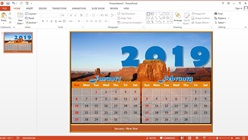 How to Make a 1 Page Calendar 2 Months in Microsoft PowerPoint