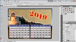 How to Make a 1 Page Calendar 2 Months in adobe Photoshop