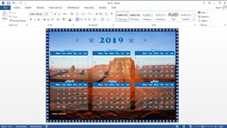 How to Make a 1-Page Calendar 6 Months in Microsoft Word