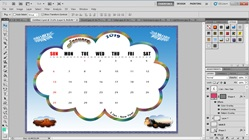 How to Make a Desk Calendar from Microsoft PowerPoint to Adobe Photoshop
