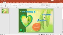 How to Make a Wedding Invitation Card Picture Watermark in Microsoft PowerPoint