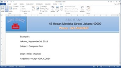 How to create a mail merge with data from Microsoft Excel to Ms Word