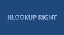 Tutorial hlookup right
